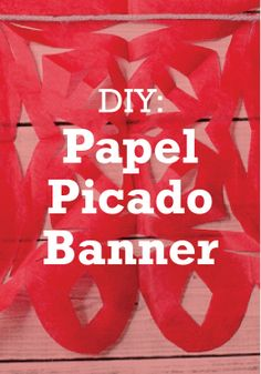 Planning a fun, Mexican inspired party? You'll love this DIY papel picado banner.