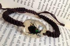 VNTG 90s Beetle Bracelet by thatVideoVAMPvintage on Etsy, $14.00