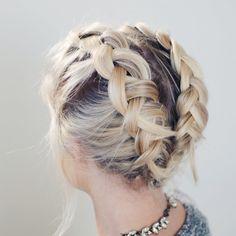 HOW TO BRAID SHORT HAIR | ...
