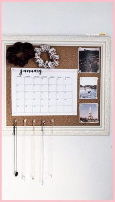 Room Ideas Bedroom, Teen Room Decor, Cork Board Ideas For Bedroom, Diy Cork Board, Bedroom Inspo, Diy Bedroom Decor For Teens, Teen Bedroom, Cute Wall Decor, Tumblr Wall Decor