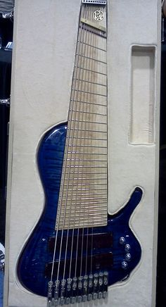 Checkout this awesome 11 stringer! From the Prat guitar booth at NAMM this is well done, but, really not as sexy as a strat, awkward, sort of deformed--fuck it. Music Guitar, Cool Guitar, Playing Guitar, Unique Guitars, Custom Guitars, Making Musical Instruments, Rick E, Guitar Photos, Play That Funky Music