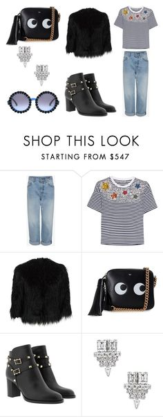 """""""INSTANT CRUSH"""" by laura-melissa-cortes on Polyvore featuring moda, Miu Miu, Theory, Anya Hindmarch y Yves Saint Laurent"""