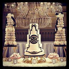 Black and cream art deco cake...by cake opera