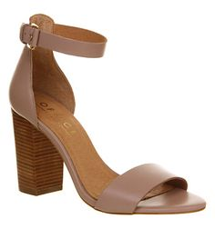 Office Sasha Block Heel Sandal Mink Leather - High Heels