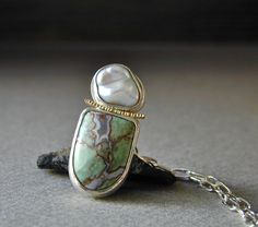 African Chromium Green Petrified Wood and Lustrous by betsybensen