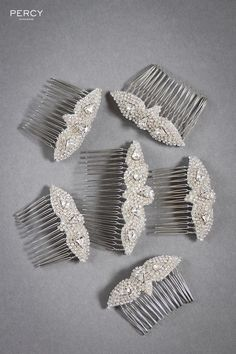 Bespoke Bridal Hair Accessories by Percy Handmade!! Perfect hair accessories to go with your Great Gatsby themed Wedding or event.