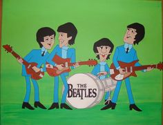 The Beatles 1, Beatles Art, Beatles Photos, Beatles Birthday, 40th Birthday, Funny Cartoon Pictures, Music Genius, Tv, Classic Rock And Roll