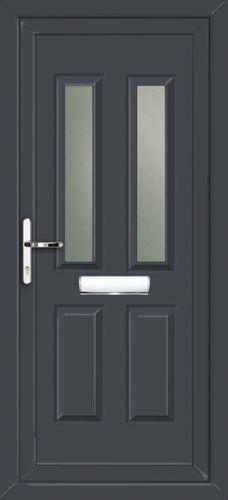 Glazed Anthracite Grey UPVC Front Door