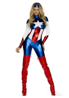 Womens American Beauty Superhero Costume. Hot Halloween CostumesSexy Adult ...  sc 1 st  Pinterest & 17 Adult Female Superhero Halloween Costumes For Every Fangirl ...