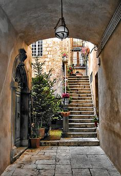 Orvieto, Italy  I can imagine living here. Happily hidden away living my own little life. :)