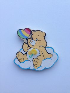 Vintage puzzle piece magnet/ Care Bear/Friend Bear by Uber2Cute, $4.50