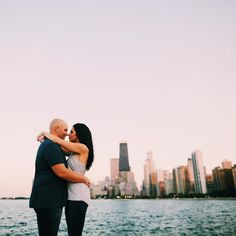 Chicago engagement session on North Avenue beach by Brett Brooner Photography.