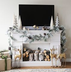 10 Achieving Tips AND Tricks: Fireplace Screen Hidden Tv herringbone slate fireplace.Old Fireplace Ceilings fireplace mantle white.Whitewash Fireplace To Get. Farmhouse Christmas Decor, Rustic Christmas, Christmas Home, Xmas, White Christmas, Christmas Trees, Christmas Cactus, Vintage Christmas, Magical Christmas