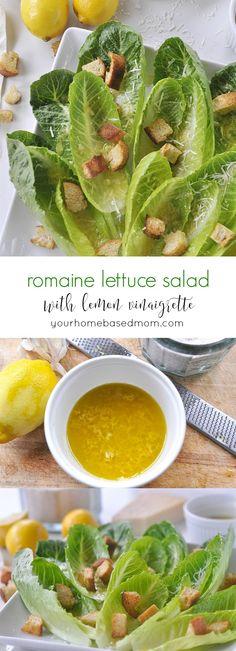 Romaine Lettuce Salad with Lemon Vinaigrette c
