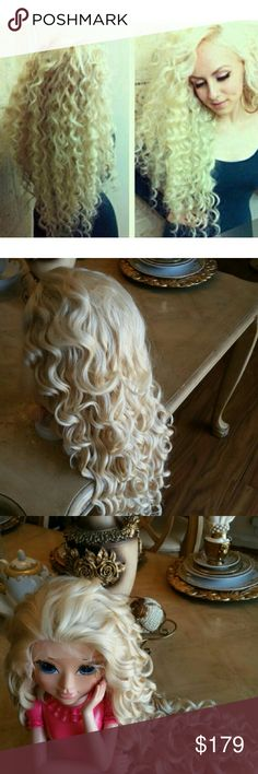 Blonde Beauty Bombshell Lace Front Wig 26-28 inch! Color #613, heat resistant, has combs, and adjustable straps, parts baking 1.5-2 inches, 26-28 inches. Can be heat, styled, curled and straightened. Ready to ship today. Accessories Hair Accessories