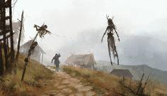 witcher,Игры,Jakub Rozalski,art,арт,красивые картинки,Игровой арт,game art
