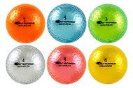 I found this at Pink Golf Tees! Metallic Ladies Golf Balls in 7 colors (pink, orange, purple, blue, green, blue & silver) by Chromax Golf.
