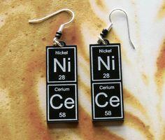 NiCe  periodic table earrings