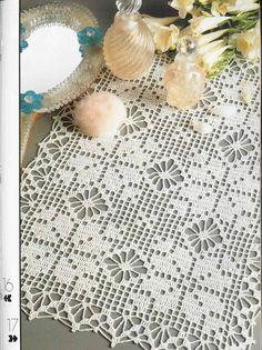 Decorative Crochet Magazines 19 - Gitte Andersen - Picasa Web Albums -Lots more free patterns here! Crochet Dollies, Crochet Borders, Crochet Flower Patterns, Crochet Chart, Crochet Squares, Thread Crochet, Crochet Motif, Crochet Designs, Crochet Flowers