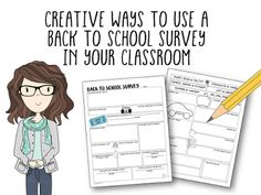 Back to School Survey for Middle and High School Students - FREE and FUN way to meet your students.