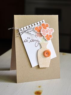 I'm So Sorry Card by Maile Belles for Papertrey Ink (July 2012)