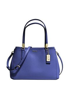 Coach Madison Small Christie Carryall In Saffiano Leather