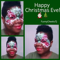 Enjoy Your Family & Friends!  Inspired by @colormefacepainting #MerryChristmas #snowflakes #christmasfacepaintings #glittery #mymakeup #ChristmasMask #HappyHolidays #seasonsgreetings #FunnyCheeksTJ #DallasFacePainter #DallasTx #dfw #DallasArtist #DallasFacePainting #Christmas2015 #facepainting #facepainter #faceart #outandabout #outinpublic #Mehron  #mehronparadise #wolfefacepaint  #mehronparadisepaint