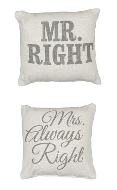 His + Hers Pillows