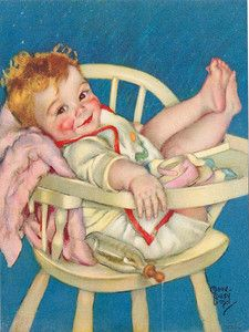 Vintage Maud Tousey Fangel baby print