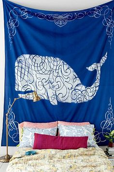 4040 Locust Whale Squiggle Tapestry - Urban Outfitters