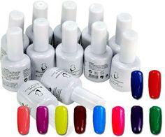10 grily shade Colour UV Soak Off Gel Plus Top & Base Coat from MissLIpLash Soak Off Gel, Base Coat, Nail Tech, Gel Polish, Colour, Nails, Top, Beauty, Pastel