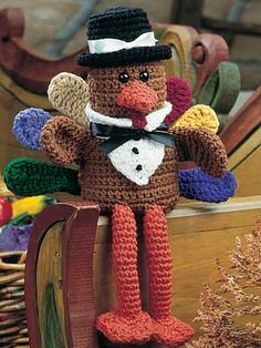 Crochet - Holiday & Seasonal Patterns - Thanksgiving Patterns - Pilgrim Turkey