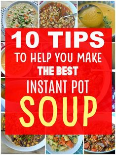 10 tips for making soup in your Instant Pot Best Soup Recipes, Chowder Recipes, Healthy Recipes, Chili Recipes, Easy Recipes, Favorite Recipes, Instant Pot Pressure Cooker, Pressure Cooking, Kinds Of Soup