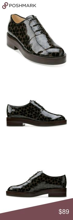 """Clarks Orla Kiely Patent Leather Shoes NWOT Womens Clarks Orla Kiely """"Orla Agatha"""" Patent Leather Brogue Shoes Clarks Shoes Flats & Loafers"""