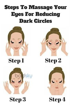 Follow this step by step massage for reducing dark circles! Take a look. More