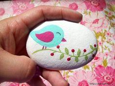 cute painted bird