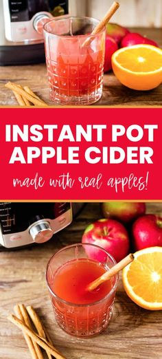 Nov 22 This homemade instant pot apple cider is a real treat! Very easy to make and the perfect fall drink for t. Milk Tea Recipes, Sweet Tea Recipes, Iced Tea Recipes, Drinks Alcohol Recipes, Wine Recipes, Yummy Drinks, Cocktail Recipes, Chai Tea Recipe, Mocha Recipe
