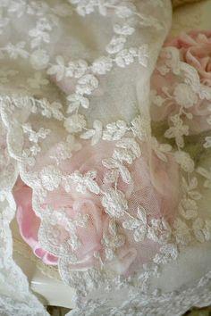 Jennelise ~ Beautiful white work embroidery on netting