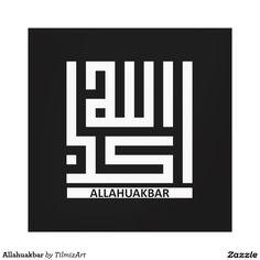 Shop Allahuakbar Canvas Print created by TilmizArt. Arabic Calligraphy Art, Arabic Art, Caligraphy, Islamic Decor, Islamic Wall Art, Islamic Art Pattern, Pattern Art, Art Arabe, Theme Harry Potter