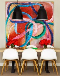 Veja mais em: http://www.casadevalentina.com.br #decor #decoracao #interior #design #casa #home #house #idea #ideia #detalhes #details #casadevalentina #kitchen #cozinha #candycolor #color #candy #style #estilo #diningroom #saladejantar #art #arte