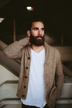 Janelle Putrich Photography . Model . Beard . Lucky Brand . Giorgio Armani . Hipster .