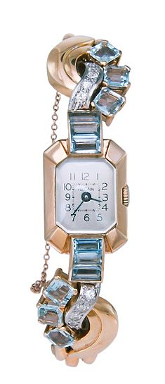 Retro Rose Gold & Sapphire Watch | Fashion Jewellery Watches | Rosamaria G…