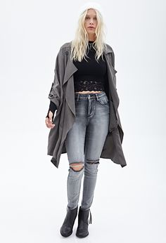 Forever 21 is the authority on fashion & the go-to retailer for the latest trends, styles & the hottest deals. Shop dresses, tops, tees, leggings & more! Nu Goth, Grey Skinny Jeans, Super Skinny Jeans, Cut Out Jeans, Grunge, Indie, Forever 21, Hipster, Punk