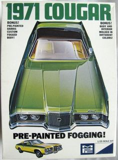 MPC - 1971 Mercury Cougar - Factory Pre-Painted Barris Custom Fogged Body kit