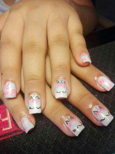 Unicorn Nails Unicorn Inspo Unicorn nails designs, Unicorn little diva nails unicorn - Diva Nails Unicorn Nail Art, Unicorn Nails Designs, Cute Nail Art, Nail Art Diy, Nails For Kids, Diva Nails, Little Diva, Crazy Nails, Beautiful Nail Designs