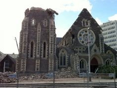 Christ Church Cathedral after the earthquake Christchurch New Zealand, Before I Sleep, Church News, Miles To Go, Place Of Worship, Wonders Of The World, Barcelona Cathedral, The Good Place, Mosques