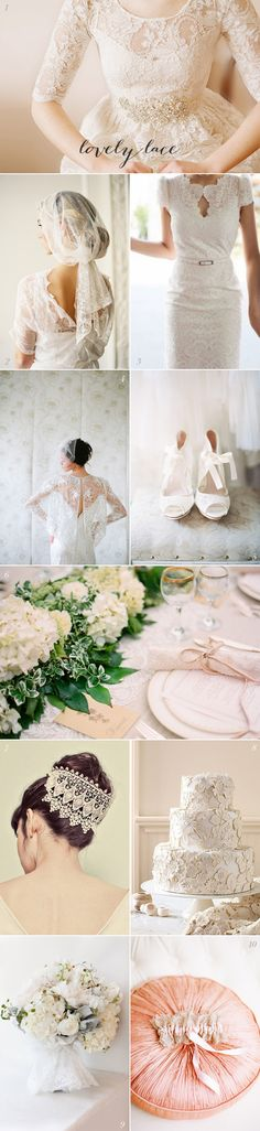 Lace Wedding Inspiration | EAD a lot of good ideas all solo close to be modest enough for a temple!