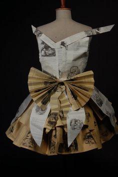 Paper Alice in wonderland dress