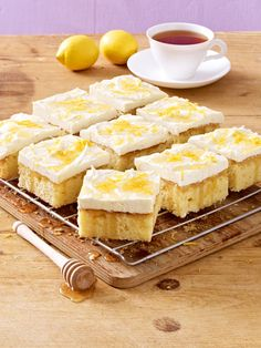 Besonders aromatisch: Honig-Zitronen-Blechkuchen