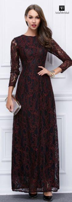 In stock elegant lace jewel neckline A-Line evening dresses(SOD66105)
